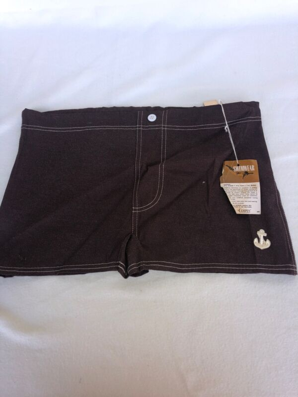 1960s Dead Stock With Tags Men's Swim Trunks Size 36 By Campus Drawstring Wow!