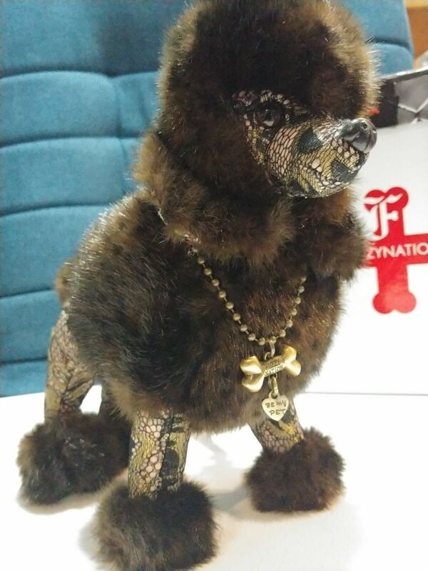 VRARE Fuzzy Nation Couture limited ed Frockstar Poodle Puppy Dog Purse Clutch