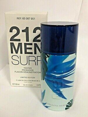 212 SURF by CAROLINA HERRERA  Eau De Toilette Spray 3.4 oz for TESTER Men