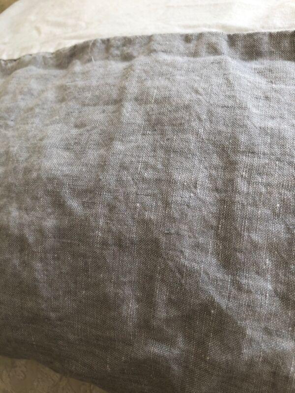 Pottery Barn Baby Belgian Linen Flax Light Gray Crib Skirt Excellent