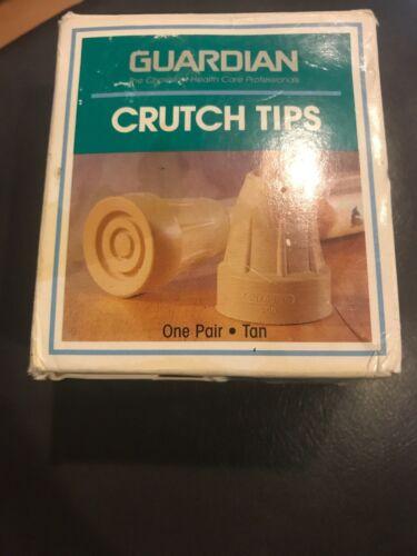 Crutch Tip set of 2 GUARDIAN brand NIB tan