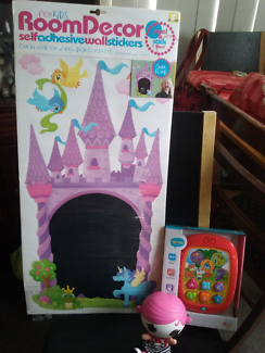 Room decor chalk castle +baby lalaloopsy +bn babys learning pad.