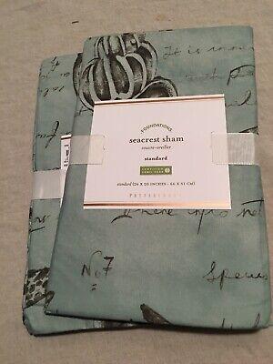 Set/2 Pottery Barn Seacrest Standard Shams Absolutely Beautiful!!