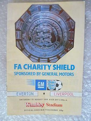 1984 FA Charity Shield EVERTON v LIVERPOOL, 18th Aug