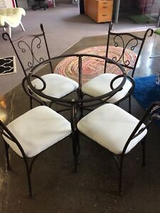 Dining table and 4 chairs-No Glass-Must Go!