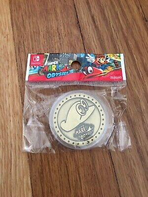 Super Mario Odyssey Limited Cappy Double Sided Collectible Gold Coin!
