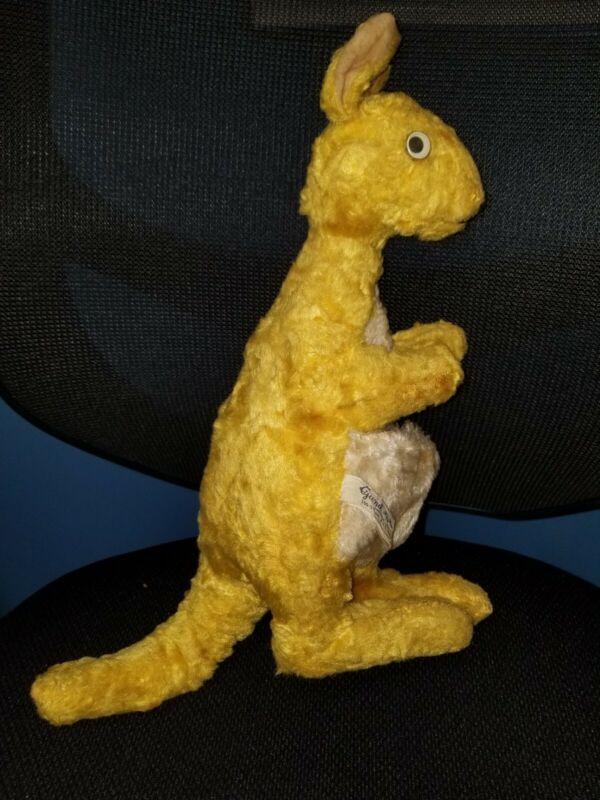 Antique Kanga Kangaroo Plush Disney Gund Swedlin Stuffed Animal Winnie Pooh D1