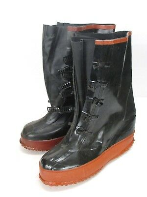 NOS! IRONWEAR MEN'S RUBBER FIVE BUCKLE BOOTS, Size:9 ()