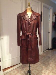 Manteau de cuir années 70 (Homme 40)