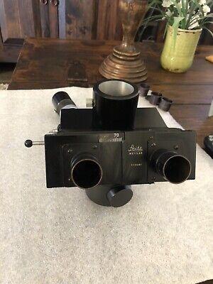 Leitz Wetzlar Vertical Pol Microscope Pol Illuminator 0.8x W Trinocular Head