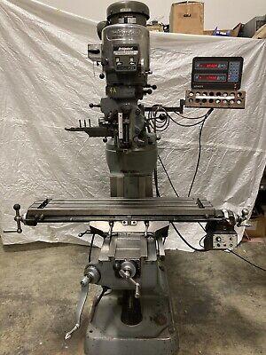 Bridgeport Series 1 2hp Milling Machine Acu Rite Dro 42inch Table W Power Feed