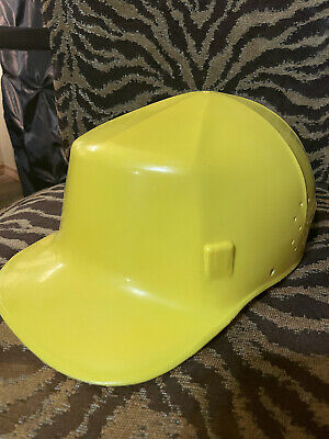 Vintage Yellow Ed Bullard Mk 2 Hard Boiled Bump Cap Hard Hat W Liner Usa
