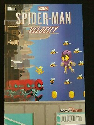 Spider-man Velocity 1 (8-Bit variant cover)from the world of Sony PS4 Spiderman
