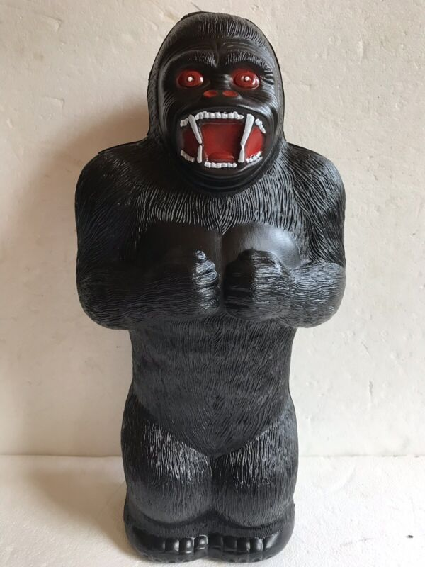 "Blow Mold Plastic King Kong Bank Union Products 17"" Renzi Mold Painted"