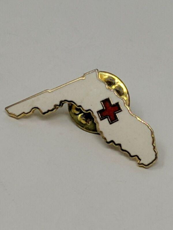 Vintage American Red Cross ARC Pin Broward County Fort Lauderdale Florida FL