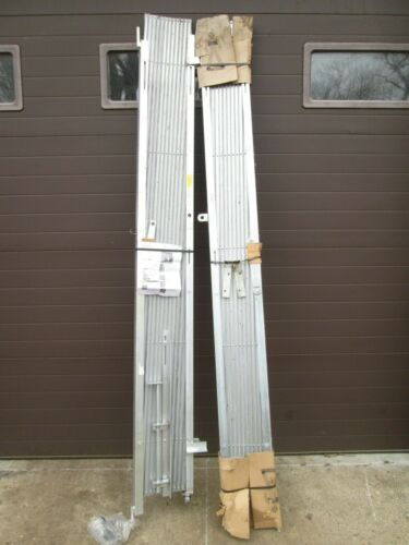 """""""IEP"""" HEAVY DUTY COMMERCIAL PAIR OF FOLDING GALVANIZED STEEL SECURITY GATES"""