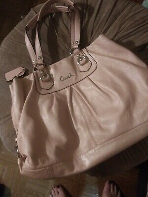 Coach Leather Purse Handbag Bag Hobo Light Pink Blush - Preowned GUC