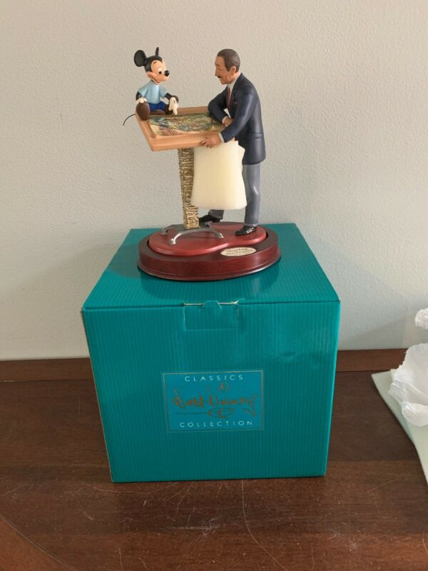 WDCC ~ SHARING THE VISION ~ Brand New With Box & COA ~ Walt and Mickey