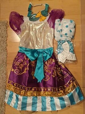 Madeline Maddie Hatter Halloween Costume complete w/ wig accessories Child 10/12