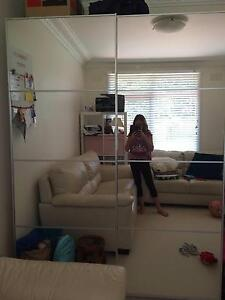 White Ikea Wardrobe with mirror doors Frenchs Forest Warringah Area Preview