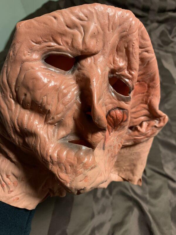 VTG 1987 Freddy Krueger Mask Rare ORIGINAL HORROR 1980s Slasher Movie Halloween
