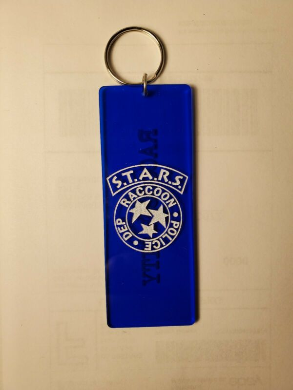 S.T.A.R.S. Resident Evil inspired keychain key chain