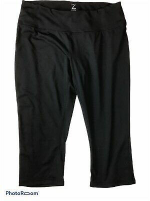 Zella Capris Leggings Large Black Pants Yoga Crop EUC
