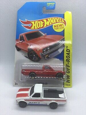Hot Wheels Datsun 620 Pickup Red  & White 2013
