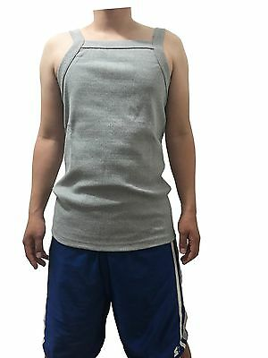 G UNIT Square Cut Ribbed Tank Top Undershirt Wife Beater Mens Cotton Gray XL