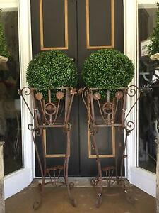 French Rustic Style Vintage Metal Plant Stand - Pair Available Richmond Hawkesbury Area Preview