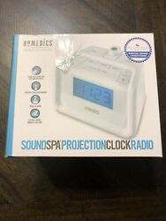 Homedics Sound Spa Projection Clock Radio Brand New Open Box