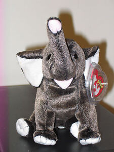 Ty Beanie Baby ~ TRUMPET the Elephant ~ MINT (Price Sticker on Tag) ~ RETIRED