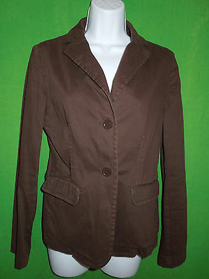 Gap  jacket blazer size 6 cotton blend  brown, used for sale  Shipping to India