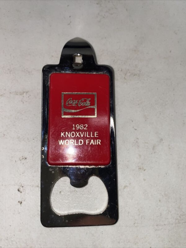 coke coca cola soda bottle opener vintage Red usa 1982 knoxville worlds fair
