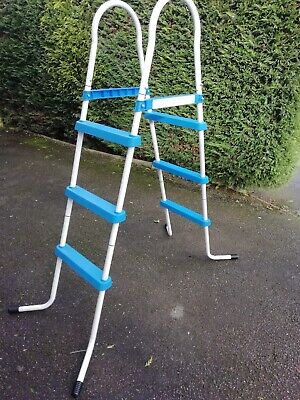 3 STEP POOL STEP LADDER FOR ABOVE GROUND SWIMMING PADDLING POOL