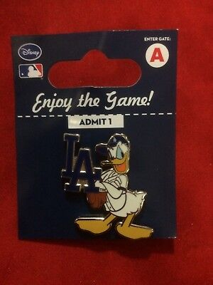 Donald Duck Los Angeles Dodgers Disney Pin - LA Logo - New - Factory Package
