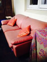 Retro leather sofa Waverley Eastern Suburbs Preview