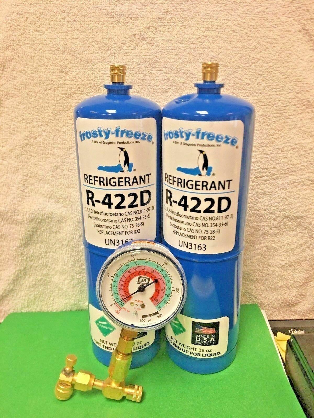 Refrigerant R422D, R-422D, R422 (R22 R-22 R-407C R-417A Substitute) 3 Can  Kit