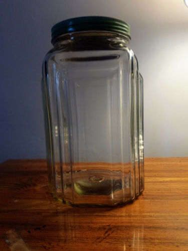 VINTAGE NECCO GLASS CANDY JAR