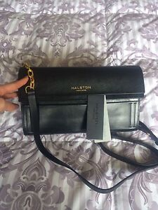 Brand new Halston leather purse