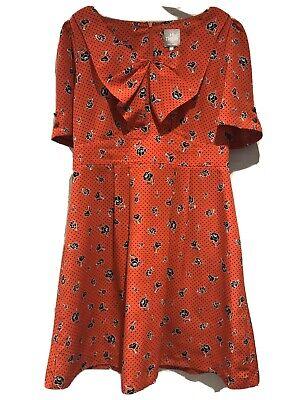 Hi There From Karen Walker Red Polkadot Summer Dress.  Size 16