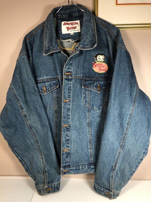 Vintage Betty Boop American Toons 2XL Denim Jean Jacket
