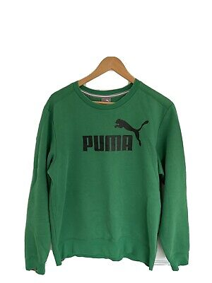 Mens Green PUMA Sweatshirt / Jumper - Medium