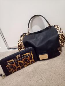 Leopard Print Handbag And Wallet