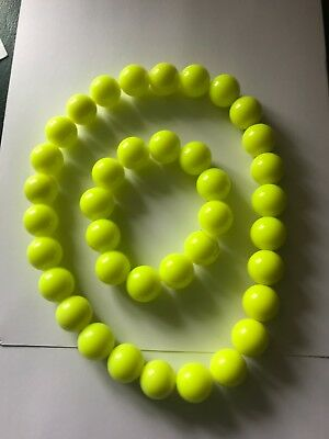 NEON YELLOW  BEAD NECKLACE AND BRACELET](Neon Bracelets And Necklaces)