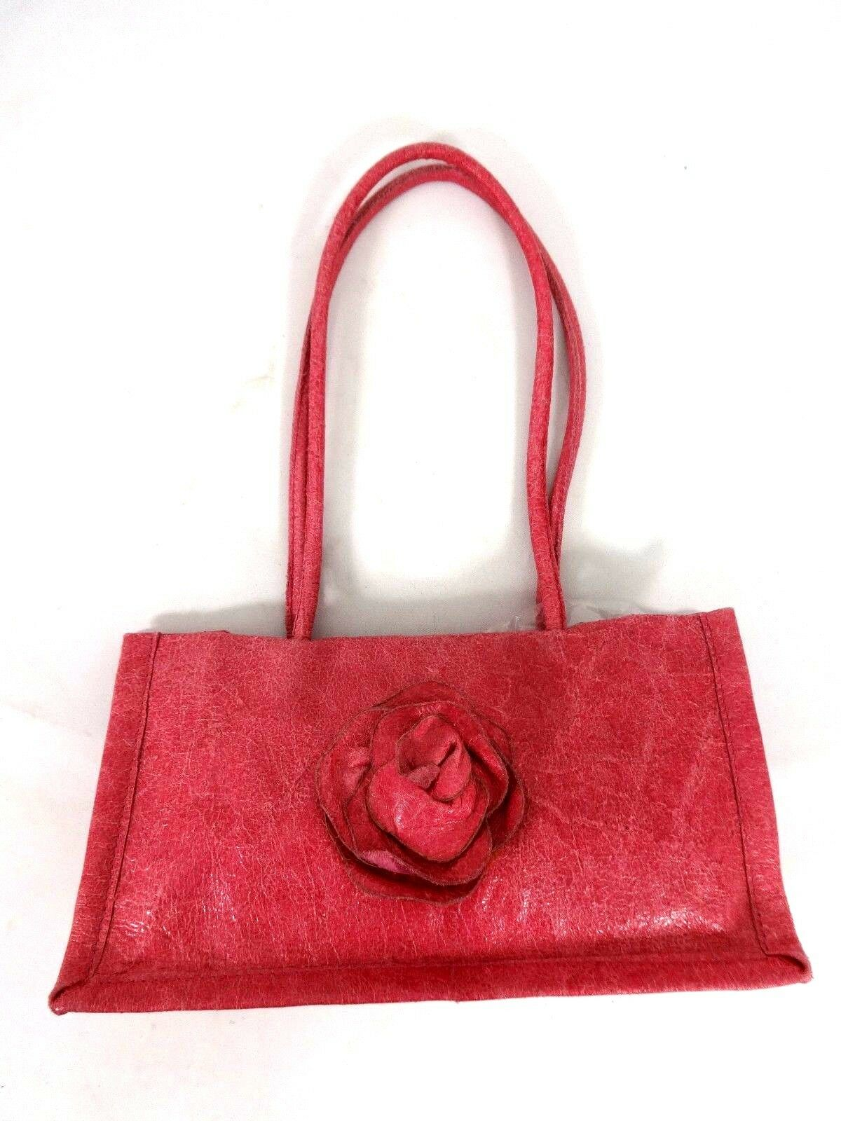 purchase cheap 5a45a e70d9 Details about ANTONELLO SERIO WOMENS SMALL SIZE PINK LEATHER HANDBAG PURSE  MADE IN ITALY