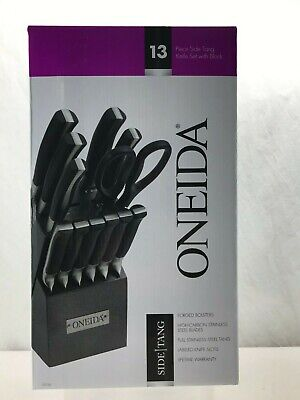 NEW Oneida High Carbon Stainless Steel Cutlery 13pc Knife Block -