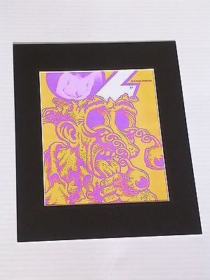PSYCHEDELIC OZ #27 Canvas Print with Black Mat ready to frame