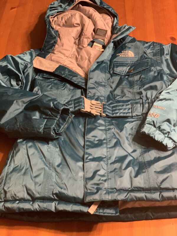 The North Face Hyvent 550 Girls Size Small 7/8 Winter Puffer Jacket W/Hood