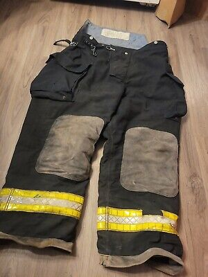 Quaker Black Gear Bunker Firefighting Pants 44 X 28 Turnout